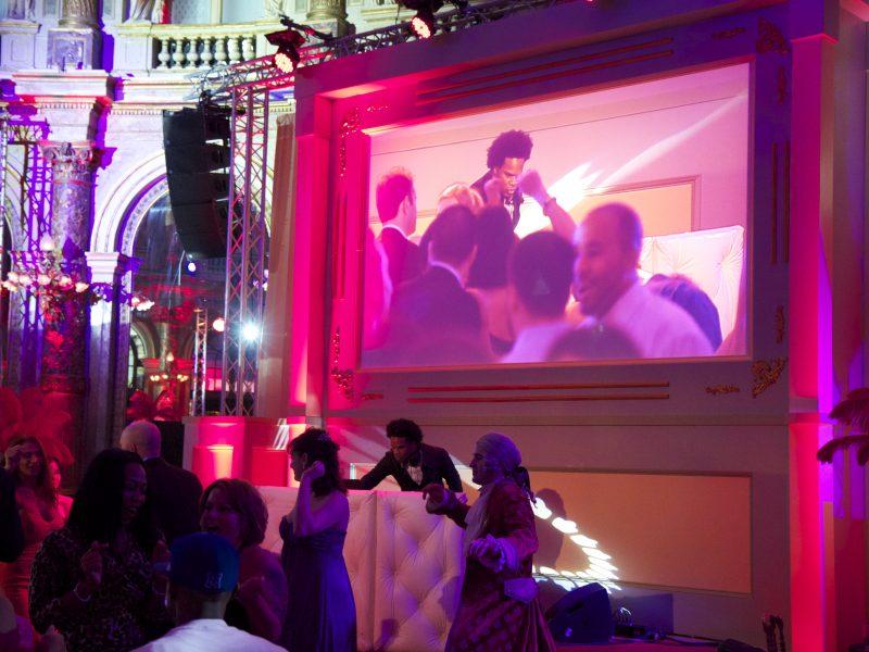 Conception et integration audiovisuelle temporaire  -Grand hotel Paris